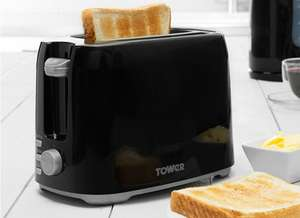 Tower T20013 2-Slice Toaster - Black for £7 @ Robert Dyas (Free C&C)