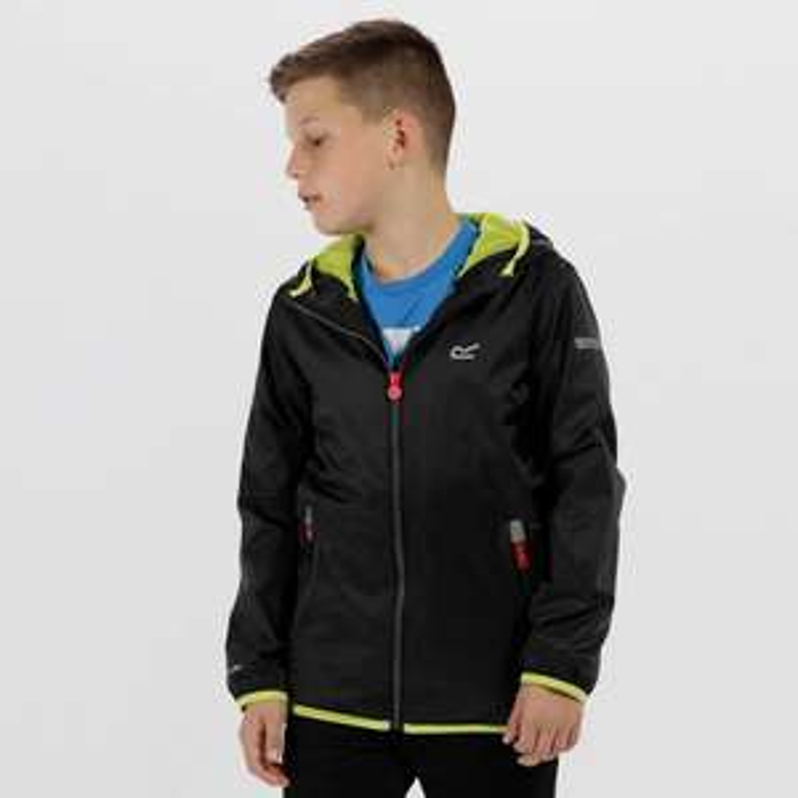 Regatta - Kids Lever II Lightweight Hooded Waterproof Jacket - £12 at Debenhams