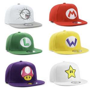 True Heads Super Mario Bros  Snapbacks Caps - 1 for £12.99 + Discounts when buying multiple @ eBay / uk_street_apparel