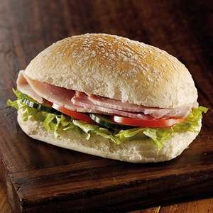 Free sandwich at cooplands bakery