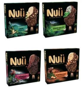 Nuii Ice Cream 3 x 90ml (Four flavours) £2 @ Tesco