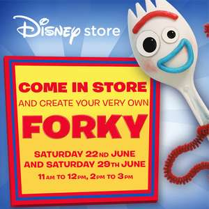 Toy Story 4 - Create Your Own Free Forky Toy - Instore @ Disney Stores - Saturday 29/06