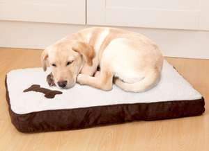 Memory Foam Pet Bed 68cm x 48cm only £1 @ B&M