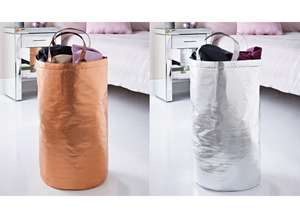 Metallic Laundry Bags - Rose Gold / Silver for £3 @ B&M