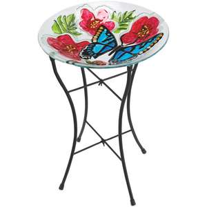Hand painted Glass Bird Bath £12.99 @ Aldi