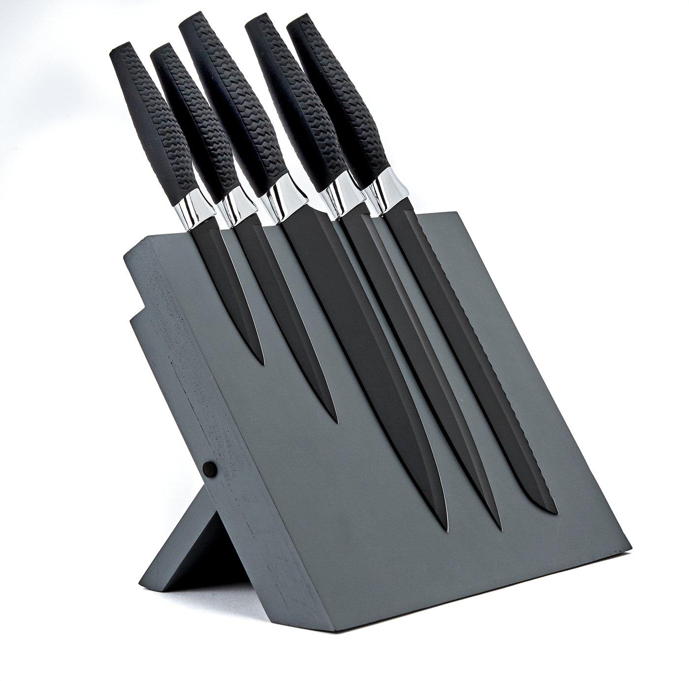 Argos Home 5 Piece Magnetic Knife Block Set - Chrome £17.50 at Argos