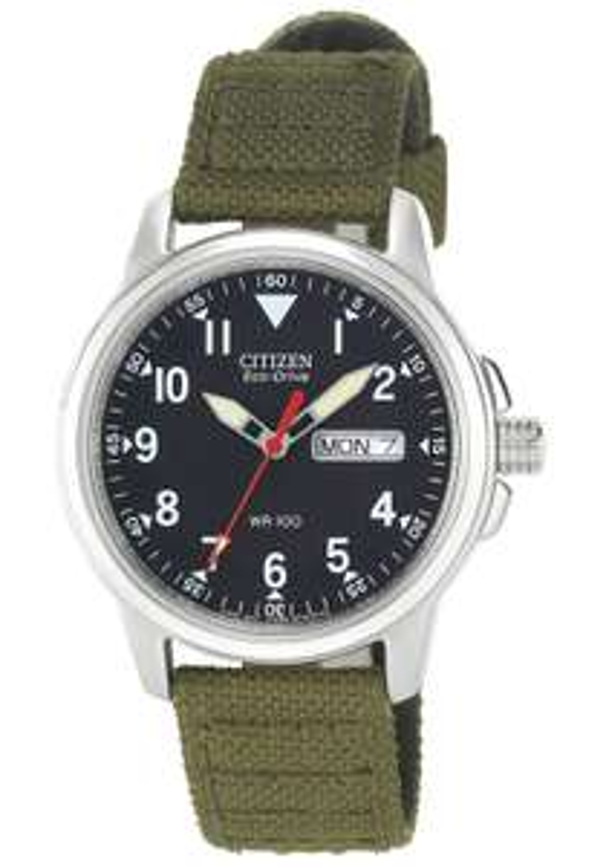 Citizen Men's Eco-Drive Analogue Green Canvas Strap Watch £69.99 at Argos