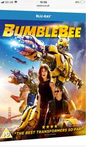 Bumblebee Blu Ray - £13 (£11.70 for new customers only) @ Zoom