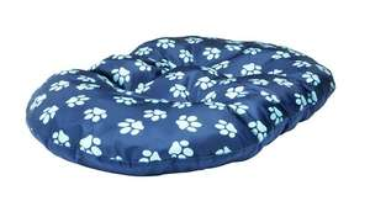 Paw Print Fleece Oval Navy Cushion Dog Bed - Medium £3.99 @ Argos