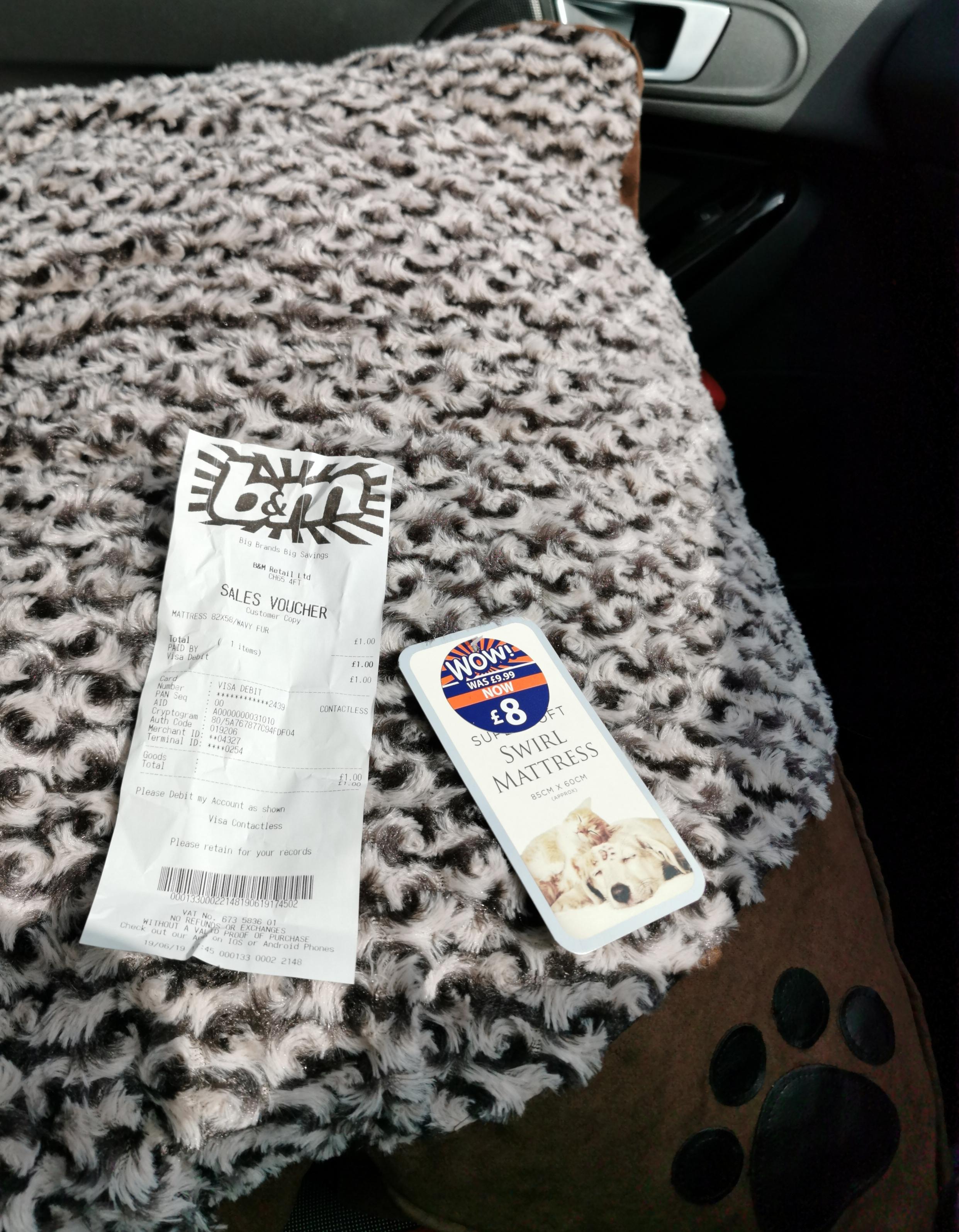 Super Soft Swirl Mattress Dog Bed £1 @ B&M