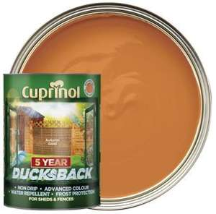 Cuprinol 5 Year Ducksback Matt Shed & Fence Treatment - Autumn Gold 5L - £9 @ Wickes