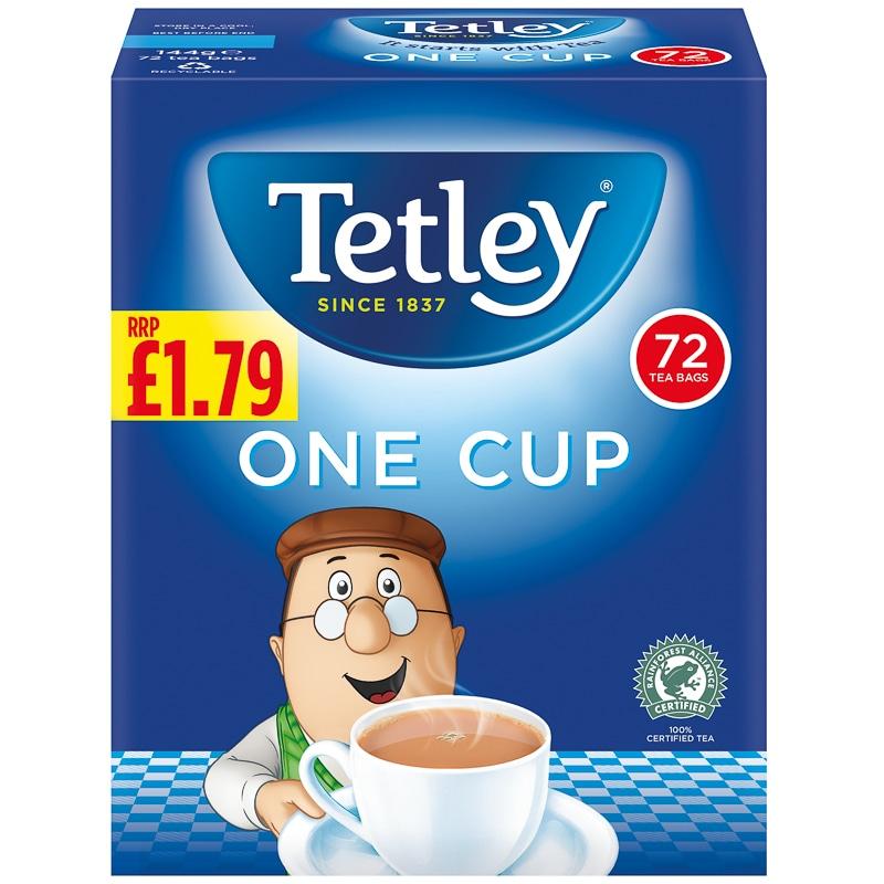 Tetley tea one Cup Tea Bags 72 bags - 89p @ Fulton Foods