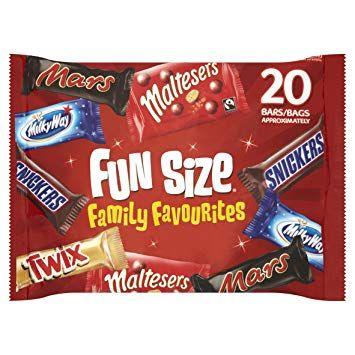 Fun size family favourites 20 pack now £1 poundland