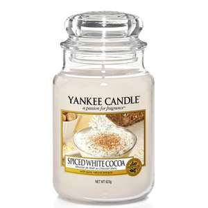 Yankee Candle - Spiced White Cocoa Large Jar - 623g £9.50 with code @ Yankee Bundles