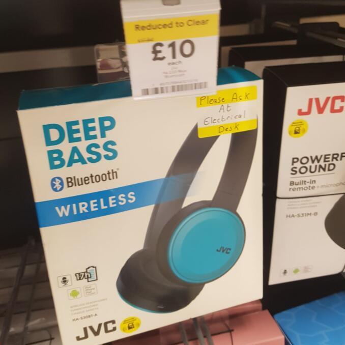 Various cheap headphones instore in Tesco  - Jam Been There £8.75 / Skullcandy JIB £7.50 / JLab Fit Sport £7.50 / JVC Deep Bass Wireless £10