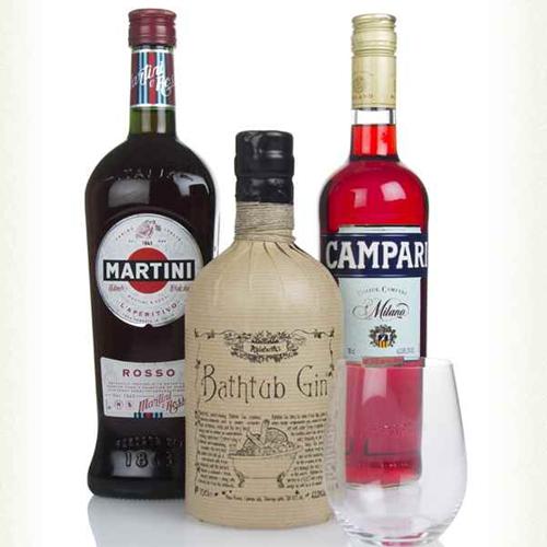 Negroni Bundle - 70cl Bathtub Gin / 70cl Campari / 70cl Martini Rosso + Crystal Master of Malt Tumbler £44.88 Delivered @ Masters of Malt