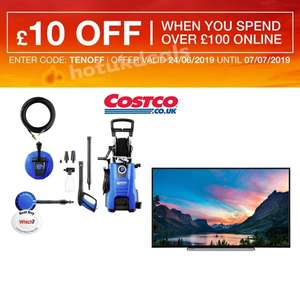 £10 off £100 Spend with code  - EG: Nilfisk D140.4-9  2400W Maintenance X-Tra Pressure Washer Kit £189.99 @ Costco - See Op for more