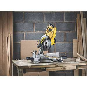 DEWALT DWS773-GB 216MM Single-Bevel Sliding Electric Compound Mitre Saw 240V - £149.99 at Screwfix