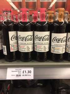 New Coca Cola Signature Mixers in 4 Flavours £1.30 at Waitrose & Partners
