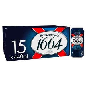 Packs of 15 x 440ml cans of Kronenbourg - 2 for £20 at Tesco