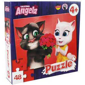 Talking Angela and Friends 48 Piece Puzzle @ TheWorks Free C&C £1.60 With Code Provided