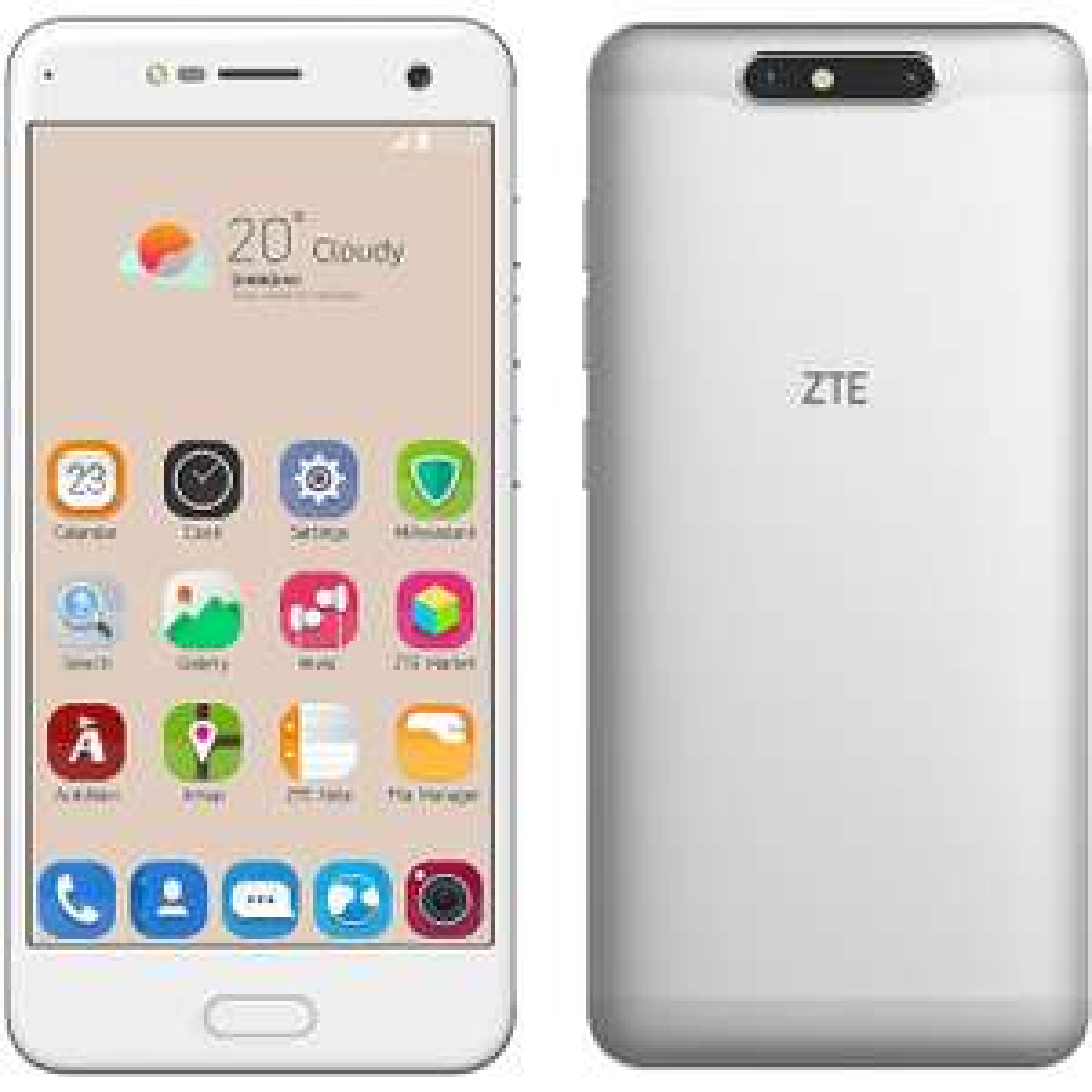 "ZTE Blade V8 5.2"" FHD Display, 2GB/16GB, SD435, FP, Silver, aluminium body, £49 @ AO"
