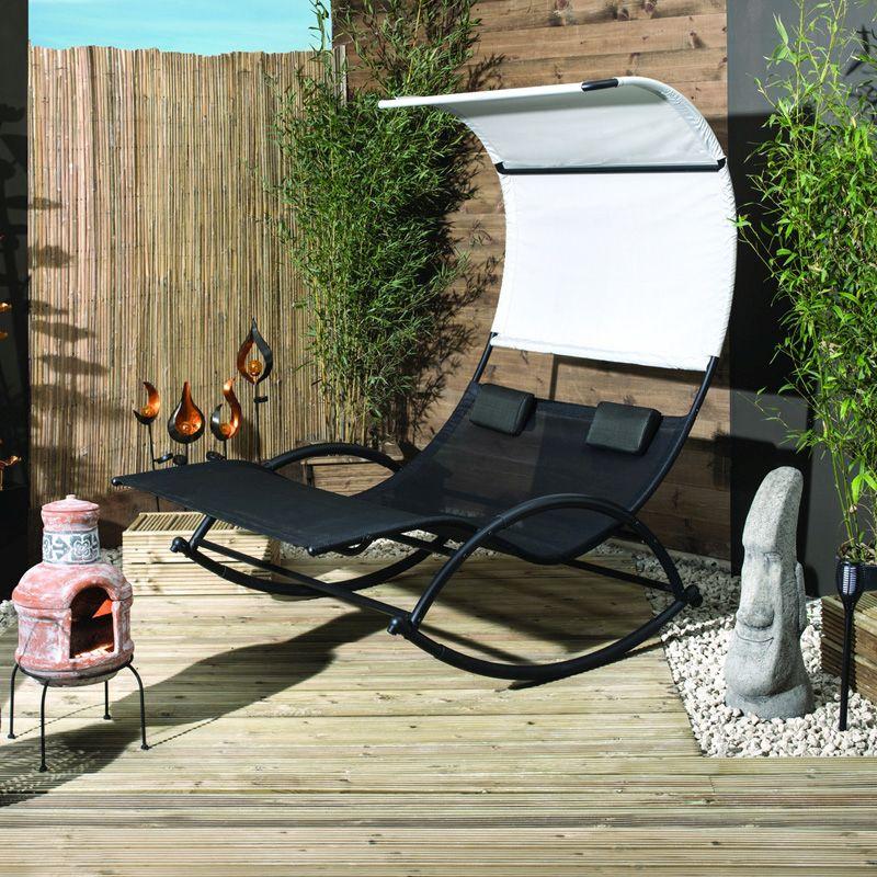Makana Double Rocker Garden Sun Lounger - QD Stores - £179 at QD Stores