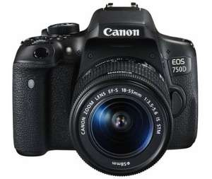 Canon EOS 750D DSLR Camera with 18-55mm Lens - £499.99 at Argos