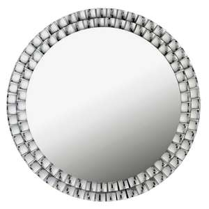 Argos Home Circular Jewelled Glass Mirror £22.99 free click and collect