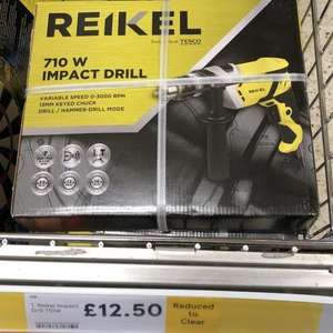 Reikel 710W Hammer / Impact Drill - was £25 now £12.50 - 2 years guarantee @ Tesco Rutherglen