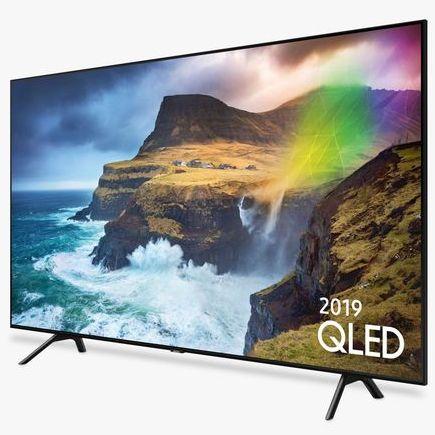 "Samsung QE82Q70R (2019) QLED HDR 1000 4K Ultra HD Smart TV, 82"" with 5 year guarantee £4299 @ John Lewis & Partners"