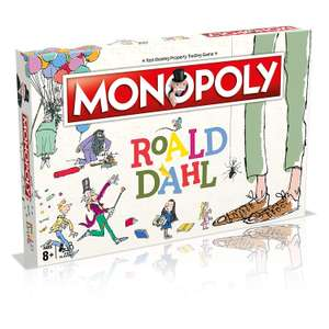 Roald Dahl Monopoly Board Game £15 (Prime) / £19.49 (Non-Prime) @ Amazon