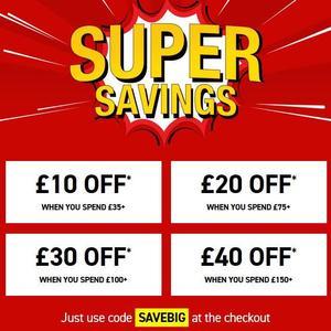 Buyagift up to £40 discount using code SAVEBIG