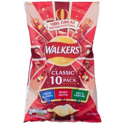 Walkers Variety 10 Pack £1.50 in B&M