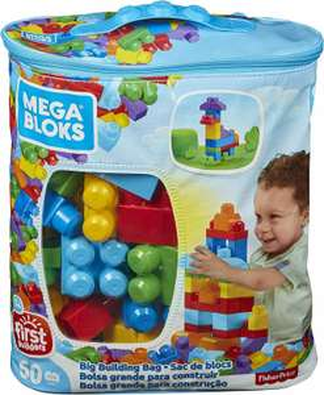 Mega Bloks Construx 900 DCH55 Big Building Bag, Blue, 60 Pieces £8.99 prime (+£4.49 non Prime) @ Amazon