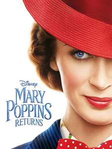 Mary Poppins Returns HD rental only £1.99 for Prime members @ Amazon