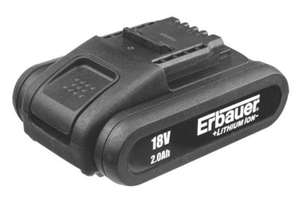 OE Battery for Erbauer, WORX, JCB, Guild, Titan tools just £22.99 Screwfix (vs £39.99 for WORX branded).
