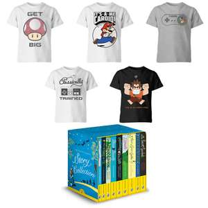 Kid's T-Shirt + Free Puffin Classics 9 Book Story Collection from £11.98 Delivered @ IWOOT