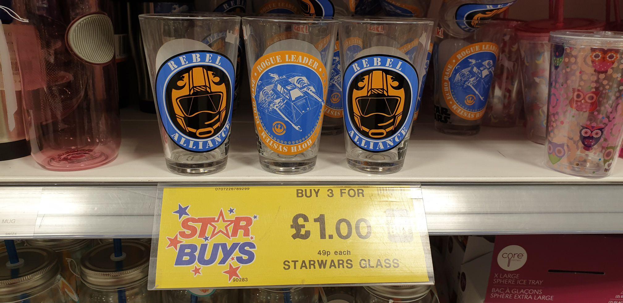 Star Wars Glasses - £1 Instore @ Home Bargain (Fareham)