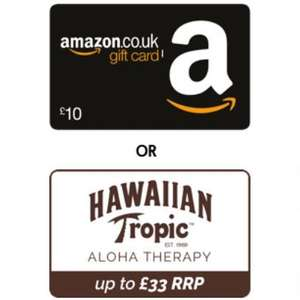 £24.96 Hawaiian Tropic bundle / £10 Amazon Voucher when you take out travel insurance with The Post Office (£6 Quidco/£6.30 TCB)