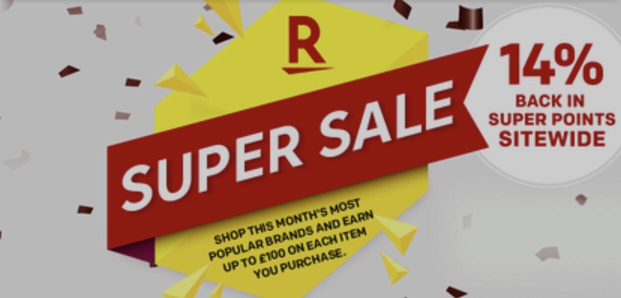 14% Rakuten Super Points at all merchants