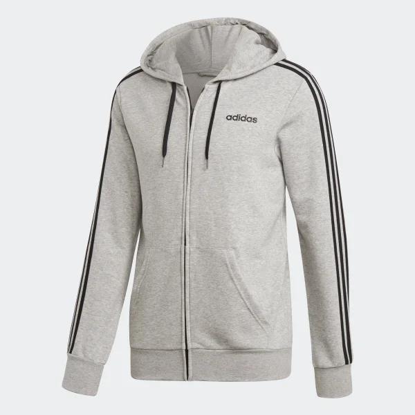 691117d6c Grey Adidas Men's Essentials 3-stripes Full Zip Hoodie, starting £18.24 at  Amazon