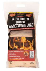 Premium Kiln Dried Birch Hardwood Logs excellent for Smoking - £3.99 at B&M