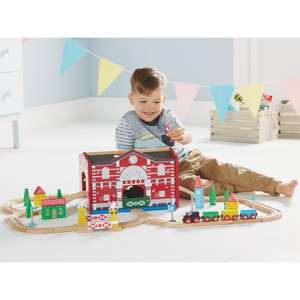Sound and lights wooden train set - £21 at George Asda
