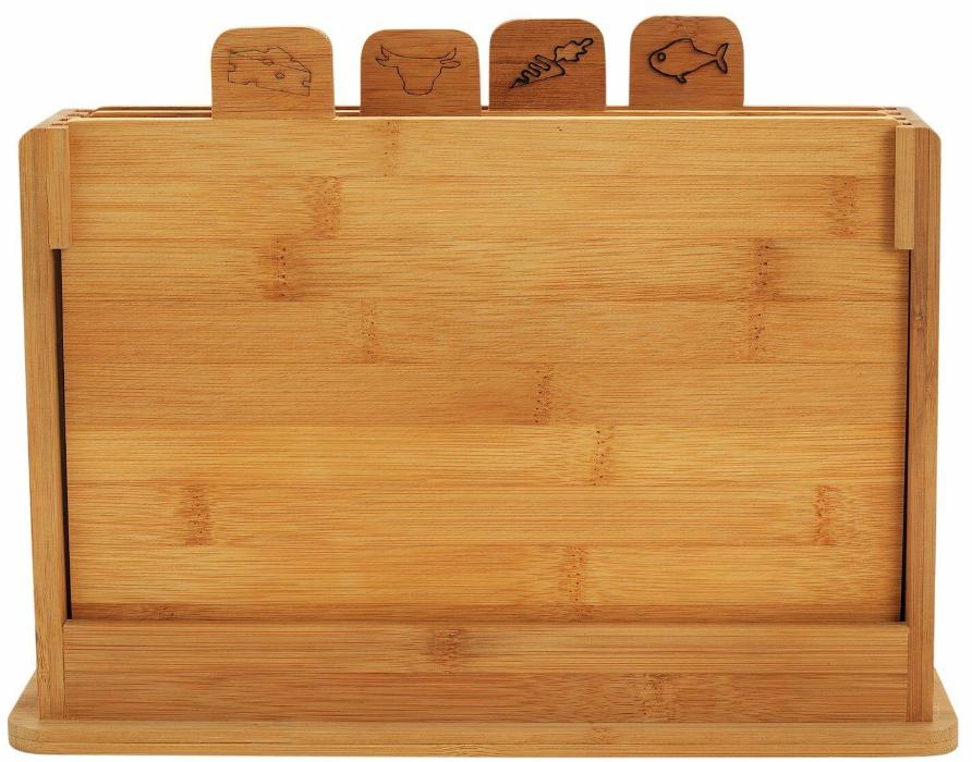 Half Price Pack of 4 Argos Home Bamboo Chopping Board - £9 + Free C&C @ Argos