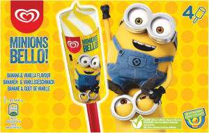 Wall's Minions Bello! Banana & Vanilla Flavour Ice Cream 4 x 85ml  @ Heron Foods - £1