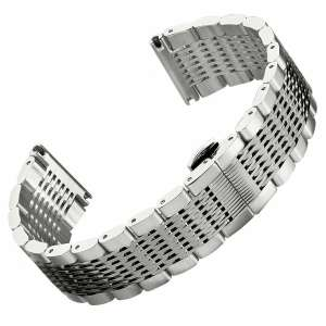 GECKOTA® 316L Stainless Steel Tapered Solid Mesh Butterfly Buckle 20mm £29 + Free Delivery @ ebay/watchgecko store