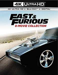 Fast & Furious 8-Movie Collection 4K UHD + Blu ray + Digital) £58.89 delivered @ Amazon UK (Sold by Amazon US Global Store)
