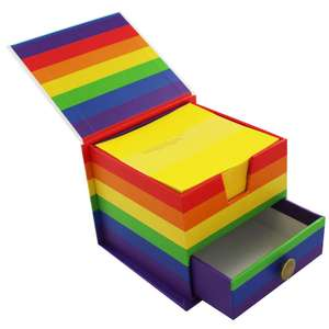 Rainbow Memo Cube @ TheWorks Free C&C £2.40 With Code Provided