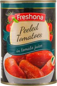400g can of Plum tomatoes for 19p instore at Lidl